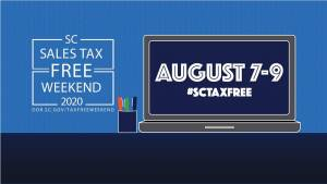South Carolina's 2020 Sales Tax Holiday is set for August 7-9, 2020