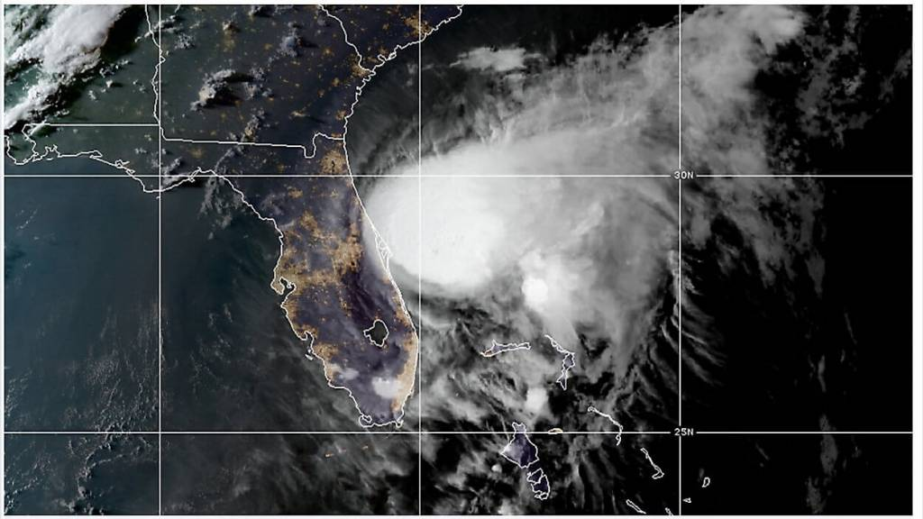 Satellite image of Tropical Storm Isaias