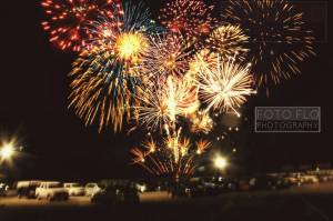 Fireworks over Darlington Raceway